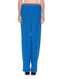 Marni Wide-Leg Printed Silk Pajama Pants   Neiman Marcus at Neiman Marcus