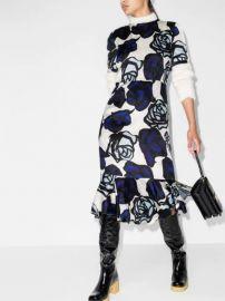 Marni floral-print ruffle-hem Midi Dress - Farfetch at Farfetch