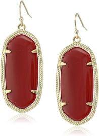 Maroon Jade Drop Earrings by Kendra Scott at Amazon