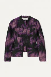 Marques  Almeida - Frayed printed brocade jacket at Net A Porter