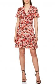 Marseille Floral Ruffle Detail Dress by Reiss at Nordstrom