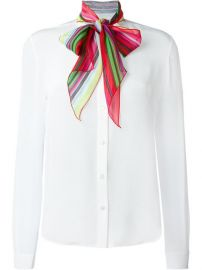 Mary Katrantzou   39 Folia  39  Pussy Bow Blouse at Farfetch