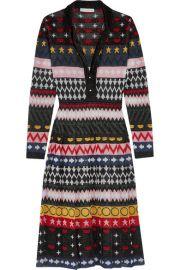 Mary Katrantzou   Cecile metallic jacquard-knit dress at Net A Porter