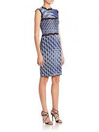 Mary Katrantzou - Sleeveless Wavy Print Knit Dress at Saks Fifth Avenue