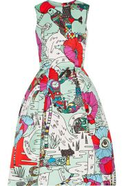 Mary Katrantzou  Astere printed satin dress at Net A Porter