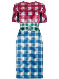 Mary Katrantzou Acacia Gingham Silk Dress at Farfetch