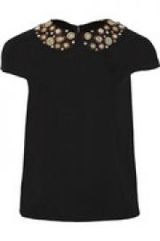 Mary embellished stretch-silk top at The Outnet