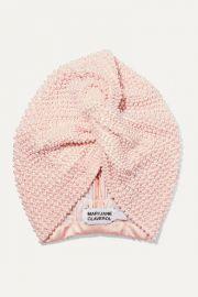 MaryJane Claverol - Frankie faux pearl-embellished satin turban at Net A Porter