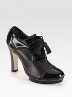 Mary's black oxfords at Saks Fifth Avenue
