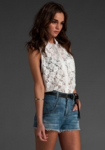 Marys lace shirt on OUAT at Revolve