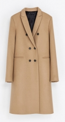 Masculine double breasted coat at Zara