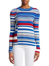 Mason Mixed Stripes Knit Sweater at Saks Off Fifth