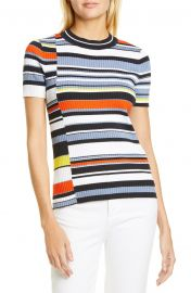Mason Stripe Short Sleeve Sweater by Rag and Bone  at Nordstrom