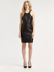 Mason by Michelle Mason - Leather-Front Dress at Saks Fifth Avenue