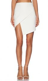 Mason by Michelle Mason Asymmetrical Wrap Skirt in Ivory from Revolve com at Revolve