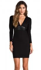 Mason by Michelle Mason Leather Belt Dress in Black  REVOLVE at Revolve