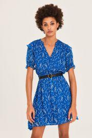 Matcha Short Printed Dress  at Ba&Sh