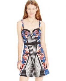 Material Girl Fit-And-Flare Printed Dress  at Sears