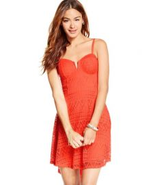 Material Girl Juniors Lace Overlay High-Low Dress at Macys