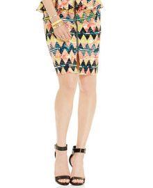 Material Girl Juniors Printed Peplum Pencil Skirt at Macys