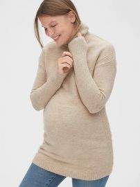 Maternity Cozy Turtleneck Tunic Sweater by Gap at Gap