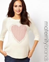 Maternity Love Heart Sweater at Asos