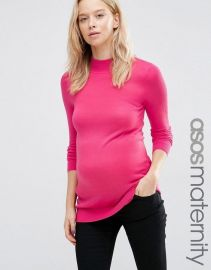 Maternity Sweater With High Neck at Asos