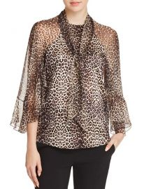 Matilda Silk Leopard-Print Blouse by Elie Tahari at Bloomingdales