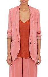 Matte Satin One-Button Jacket at Barneys