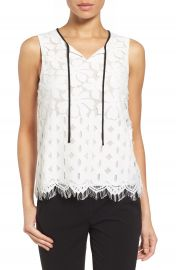 Matty M Sleeveless Lace Top at Nordstrom