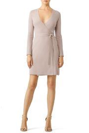 Mauve Knit Wrap Dress at Rent The Runway