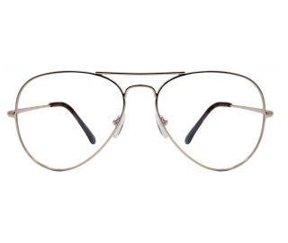 Maverick Gold Eyeglasse at Gabriel Simone