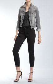Mavi Samantha Denim Jacket in Grey Vintage at Bloomingdales