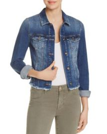 Mavi Samantha Raw Hem Denim Jacket at Bloomingdales