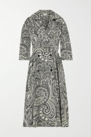 Max Mara - Addobbo belted double-breasted paisley-print cotton dress at Net A Porter