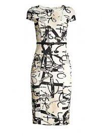 Max Mara - Alcali Printed Sheath Dress at Saks Fifth Avenue