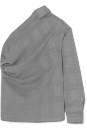 Max Mara - Pepaia one-shoulder Prince of Wales checked wool top at Net A Porter