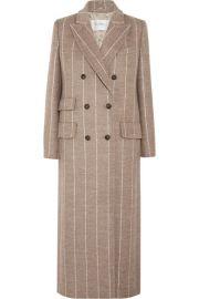 Max Mara   Pinstriped wool coat at Net A Porter
