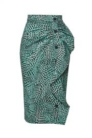 Max Mara - Stretch Cotton Musette Printed Pencil Skirt at Stylebop