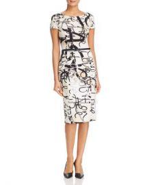 Max Mara Alcali Printed Midi Sheath Dress Women - Bloomingdale s at Bloomingdales
