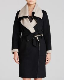 Max Mara Coat Emy Drape Collar Color Block Cashmere Reversible at Bloomingdales