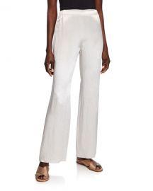 Max Mara Leisure Satin Full-Leg Pants at Neiman Marcus