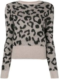 Max Mara Leopard Print Sweater - Farfetch at Farfetch