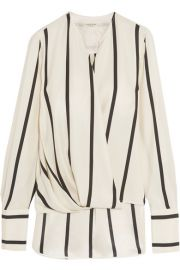 Max wrap-effect striped silk blouse by Rag and Bone at Net A Porter