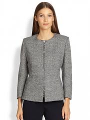 MaxMara - Zip-Front Peplum Jacket at Saks Fifth Avenue