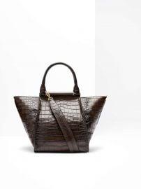 Maxi Shopper in Crocodile Print Leather at Max Mara