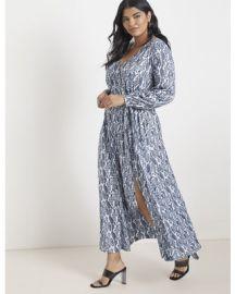 Maxi Wrap Dress by Eloquii at Eloquii