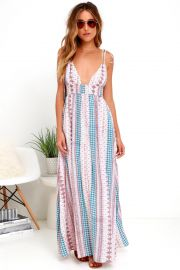 Maxin Relaxin Multi Print Maxi Dress by Lulus at Lulus