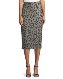 Maxmara Thomas Leopard-Print Wool Pencil Skirt at Bergdorf Goodman