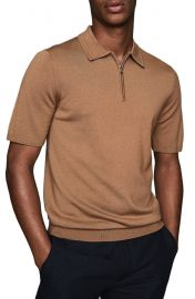 Maxwell Zip Wool Polo by Reiss at Nordstrom